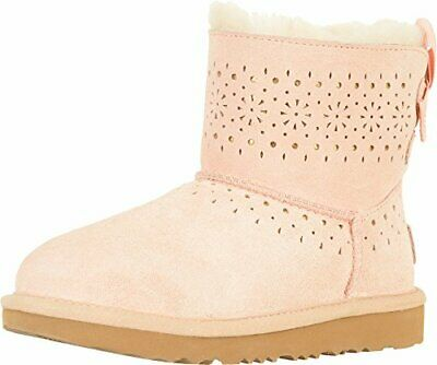 Kids Ugg Australia Girls Leather Ankle Pull On, Baby Pink,  Size Big Kid 4.0