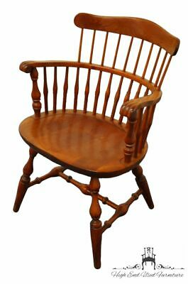 NICHOLS & STONE Solid Hard Rock Maple Colonial Style Comb Back Accent Arm Chair