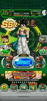 Compte dokkan battle global IOS farmed 1900 ds