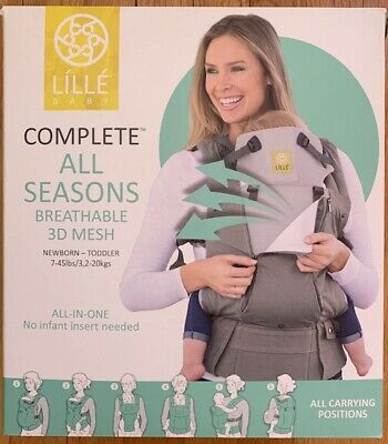 Lillebaby Complete Baby Carrier All Seasons in Stone 100 Cotton 3D Mesh