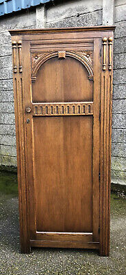 Superb Small Arts & Crafts Single Door Wardrobe/Hallrobe 2 Man Delivery