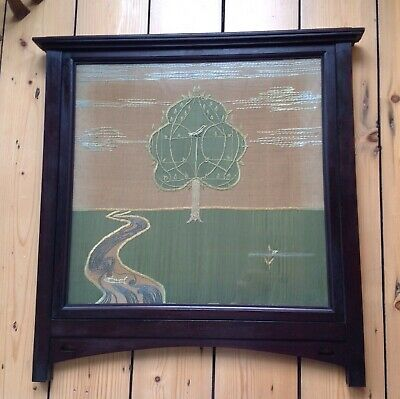 Arts & crafts Large Lovely Embroidery In The Manner Of Voysey