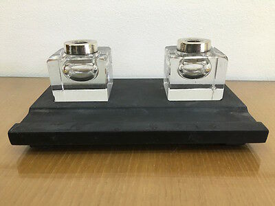 Art Deco Antike Tintenfass in Marmor Jahre 30 Antik Inkstand