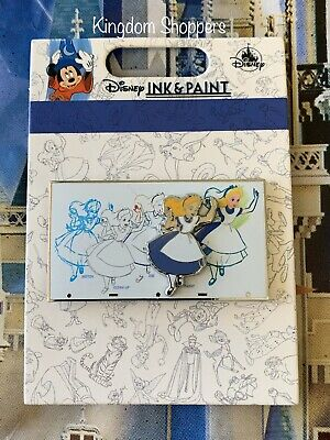 2020 Disney Parks Pin Ink & Paint Collection ALICE IN WONDERLAND