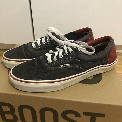 Vans Low Skate Shoe. Denim material. part suede and leather lining 9UK