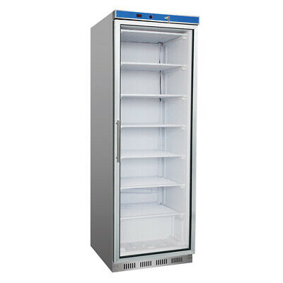 Stainless Steel Display Freezer with Glass Door for Commercial Catering Use