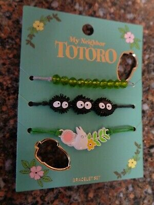 My Neighbor Totoro Set of 3 Bracelets Brand New Official Studio Ghibli NEW