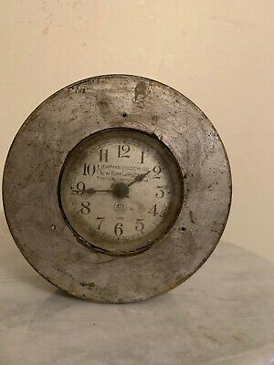 1920s Vintage Newman Watchmans Clock Co Grille Model Timeclock NO KEY