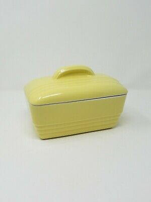 Vtg Hall for Westinghouse ceramic refrigerator dish w/lid art deco mid century