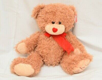 I LOVE YOU Teddy Bear Valentines Day Plush Gift ~ Stuffed Animal With Bow Tie