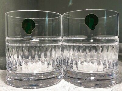 Waterford Crystal ~Set of 2 Old Fashioned Rocks Scotch Glasses ~ Ireland ~ NWT