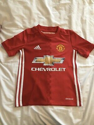 Size LB 11-12yrs Authentic Manchester United Junior Home Shirt 2011//12