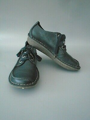 New size 3D Clarks Funny Dream black leather shoes