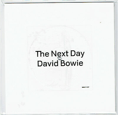 "David Bowie - The Next Day - Rare 7"" 45 Square White Record - 2013 Limited 4500"