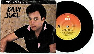 """BILLY JOEL - TELL HER ABOUT IT - 7"""" 45 VINYL RECORD w PICT SLV - 1983"""
