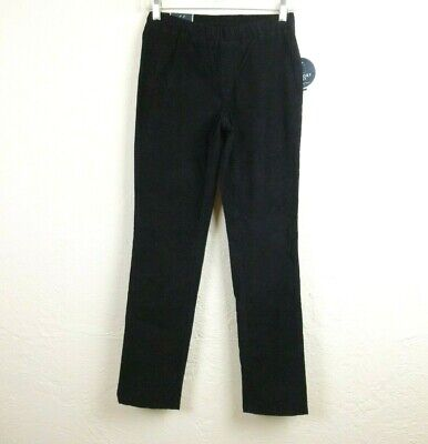 Karen Scott Petites Womens Pants PP XS Black Cord Pull On Comfort Waist