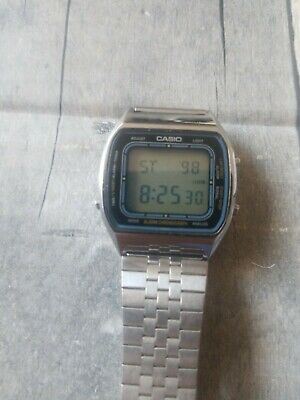 VINTAGE CASIO 'BLUE THUNDER' AA 85 (103) DIGITAL WATCH 1980s  BvHyG