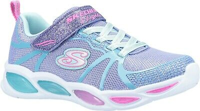 Skechers Kids S Lights Shimmer Beams Sporty Glow Childrens Sports Trainer