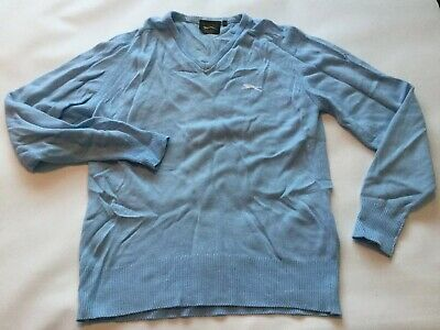 Mens V-Neck Acrylic Jumper Pullover Deluxe Sweater R676