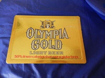 Vintage Advertising Sign- Olympia Gold Light Beer Sign- Vintage Breweriana