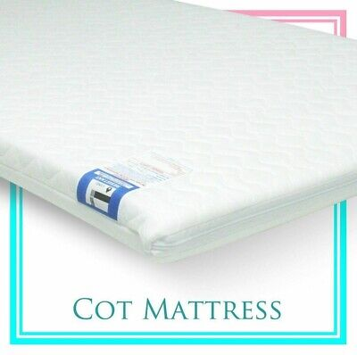 Extra Thick Travel Cot Mattress To Fits Joie Kubbie 90 x 50 x 7cm Quilted