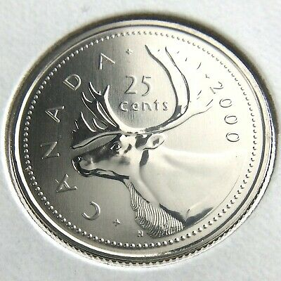 2000 Canada 25 Cents Quarter Specimen Uncirculated Canadian Coin N390