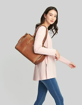 Joules Womens Hathaway Leather Everyday Bag - TAN in One Size