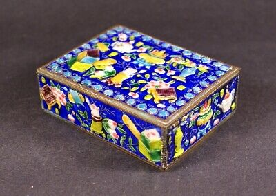 A Rare and Fine Antique Chinese Enamel Brass Box