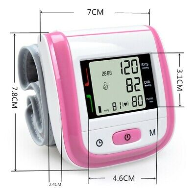 Medical Wrist Sphygmomanometer Automatic Digital Pulse Blood Pressure Monitor