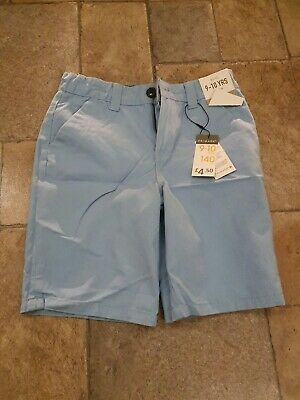 Boys Pale Blue Primark Chino Shorts ** Age 9 - 10 ** New With Tags