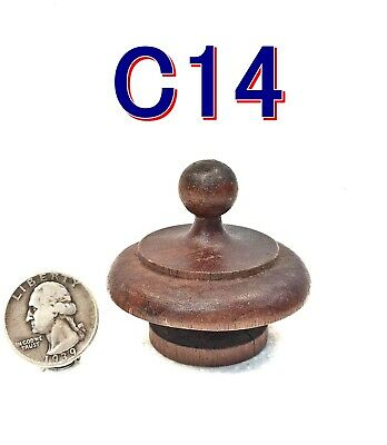 "Antique/Vintage 2"" CLOCK FINIAL Walnut Wooden Furniture reclaimed salvage *C14"