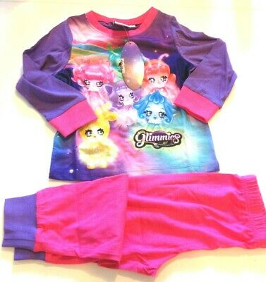 NEW Kid's glimmies collect them Pjs Pyjama Set 100% Cotton Girls official 2-3