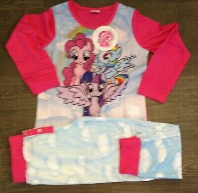 NEW Kid's my little pony them Pjs Pyjama Set 100% Cotton Girls official age 7-8