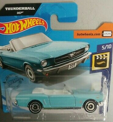 Hot Wheels Thunderball 007 '65 Ford Mustang Convertible Scale 1:64 New In
