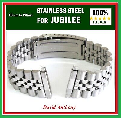 18mm to 24mm FITS JUBILEE STYLE, WATCH BRACELET, TELESCOPIC ENDS - GOOD QUALITY