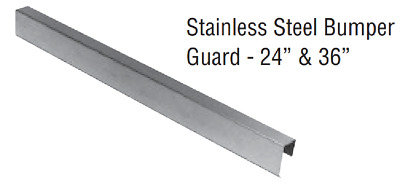 "Zurn PFJP260024BS Stainless Steel 24"" stainless steel Bumper Guards, Pack of 2"
