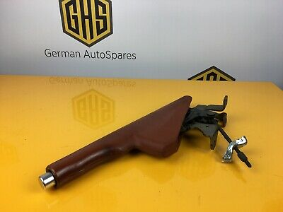 Audi Mk1 TT Handbrake Lever & Brown Baseball Leather Cover