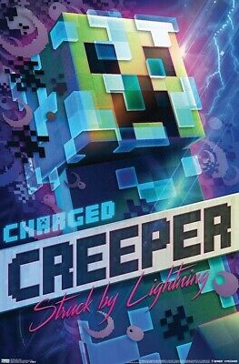 MINECRAFT - CHARGED CREEPER POSTER - 22x34 - 18327