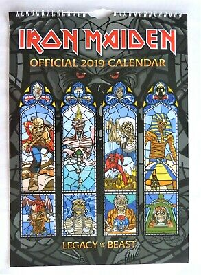 Iron Maiden Official 2019 Calendar Excellent Condition Size A3 Wall Hanging