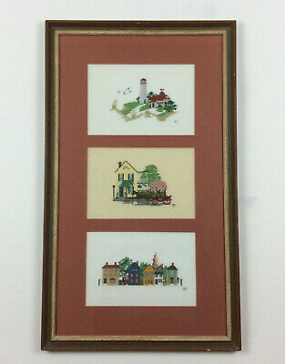 Completed Counted Cross Stitch Framed & Matted Charleston & Savannah Inspired