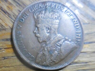 1916 George V Large One Cent Canadian Coin (seller's # 351)