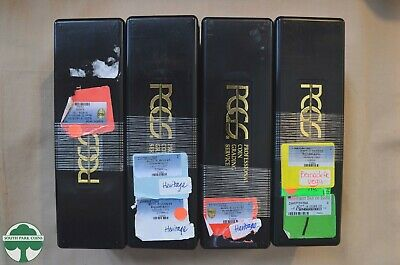 Set of 4 Used Black PCGS Slab Storage Boxes - Each Box holds 20 Slabbed Coins