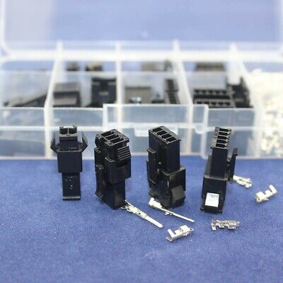 20 pair SM 2.54 Connector Assortment 2 3 4 5 Pin Male Female Kit Locking SM2.54