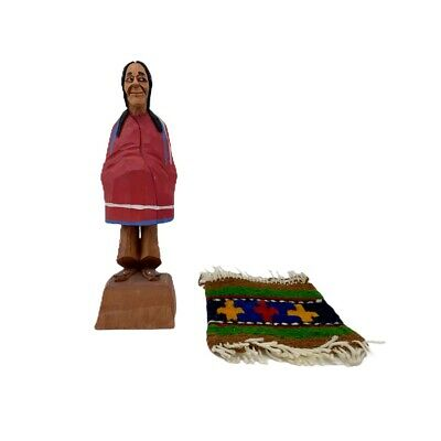 Vintage Tom Hannah Canada Hand Carved Wood Native American Folk Art Figure