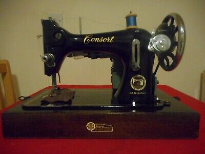 Vintage Consort Electric Sewing Machine In Bow Case