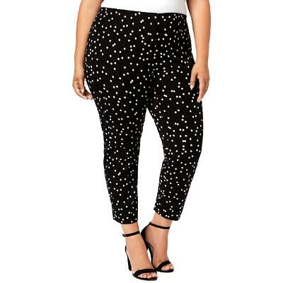 Alfani Womens Polka Dot Skinny Fit Comfort Waist Ankle Pants Plus BHFO 1076