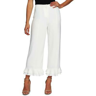 CeCe Womens Crepe Ruffled Office Cropped Pants BHFO 0822