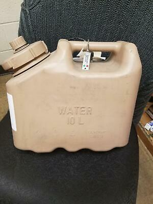 NOS US ARMY 2.5 gallon 10 L Scepter Sand Tan Jerry WATER Plastic Can Military
