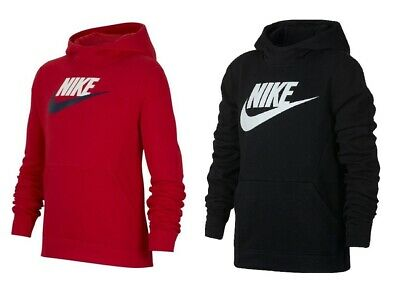 Nike Boys Kids NSW Junior Fleece Hoodie Hoody Sweatshirt Sweater Hooded Top