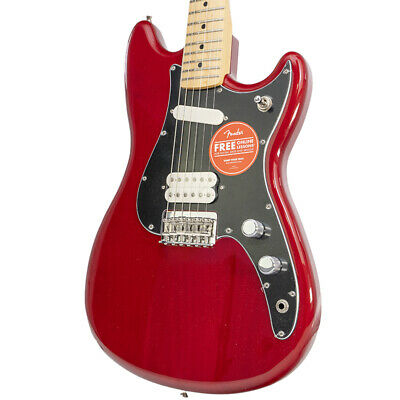 Brand New Fender Player Duo-Sonic HS Crimson Red Transparent